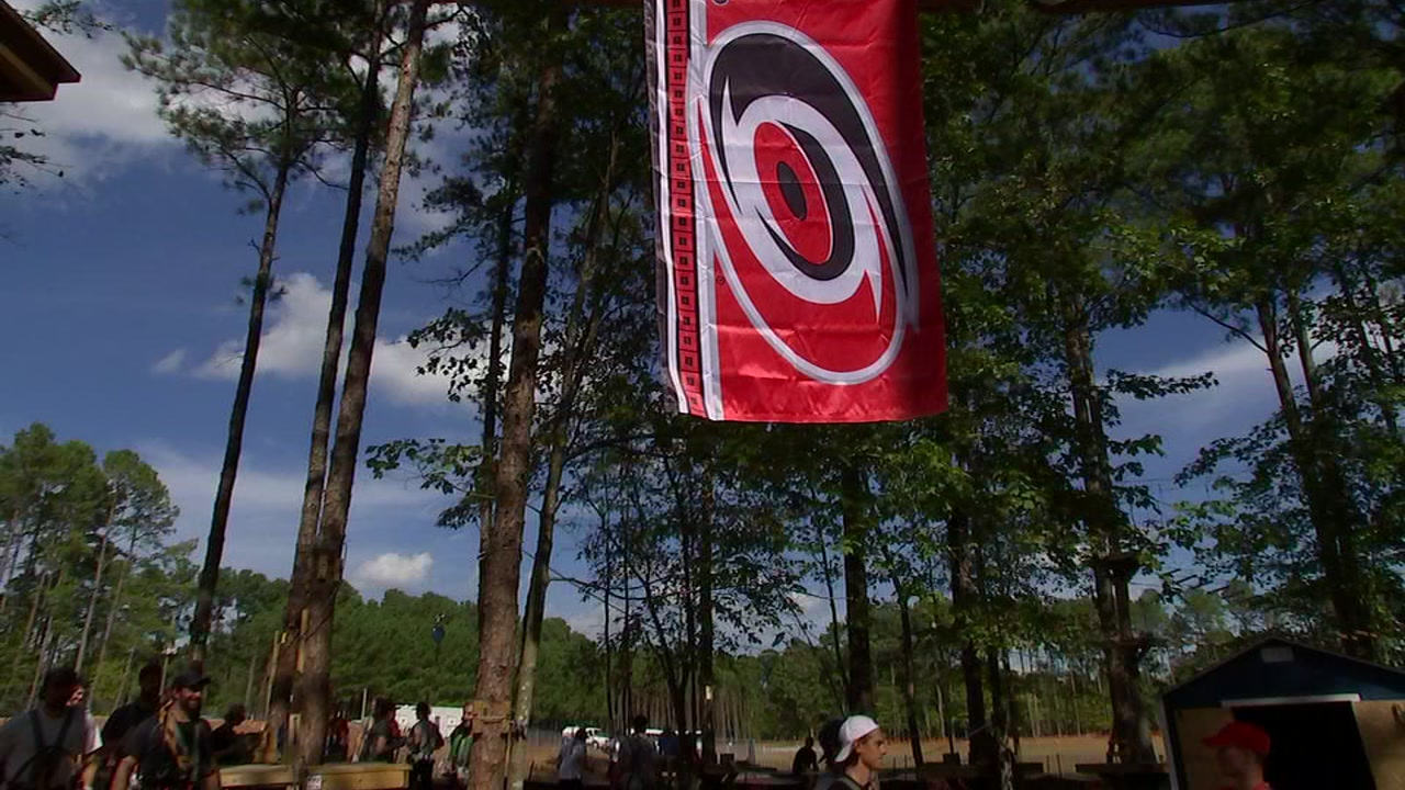 On Tuesday the Carolina Hurricanes spent an afternoon off the ice and in the trees.