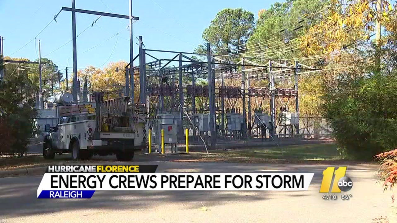 Duke Energy Progress is expecting Hurricane Florence to bring widespread outages.