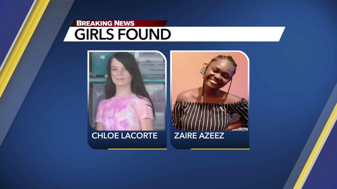 Two missing Durham girls were found safe Thursday.