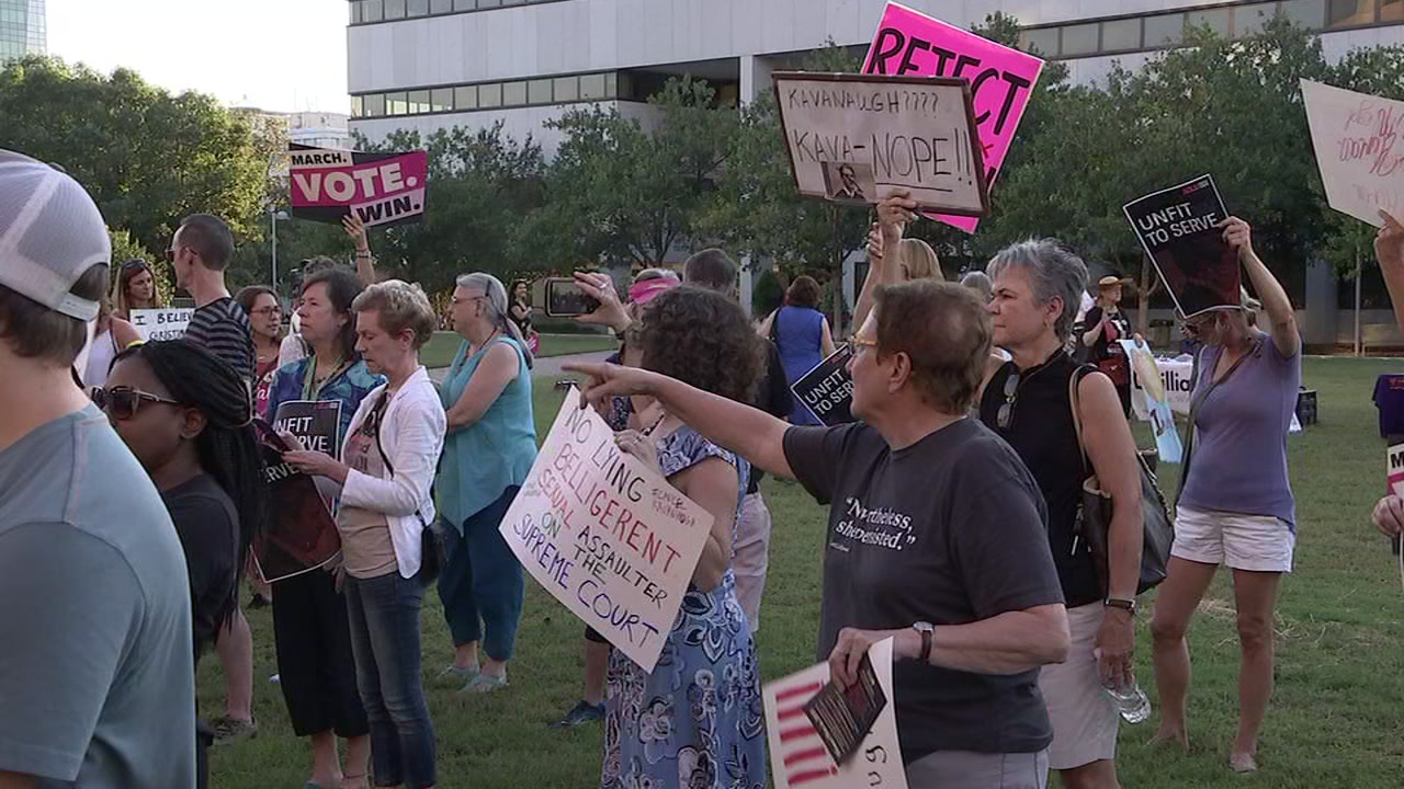 Protesters gathered in Halifax Mall in Raleigh on Thursday.