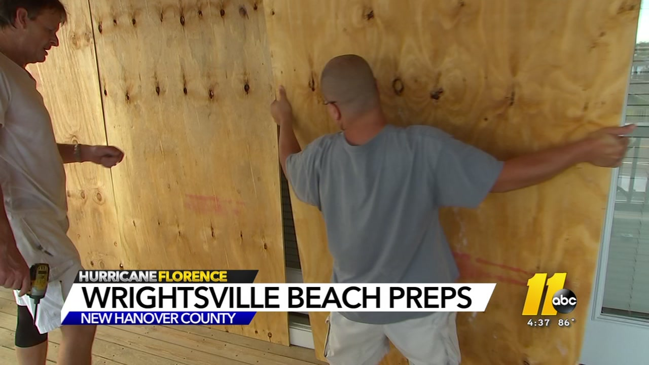 The people at Wrightsville Beach are not taking any chances with their homes and boats.