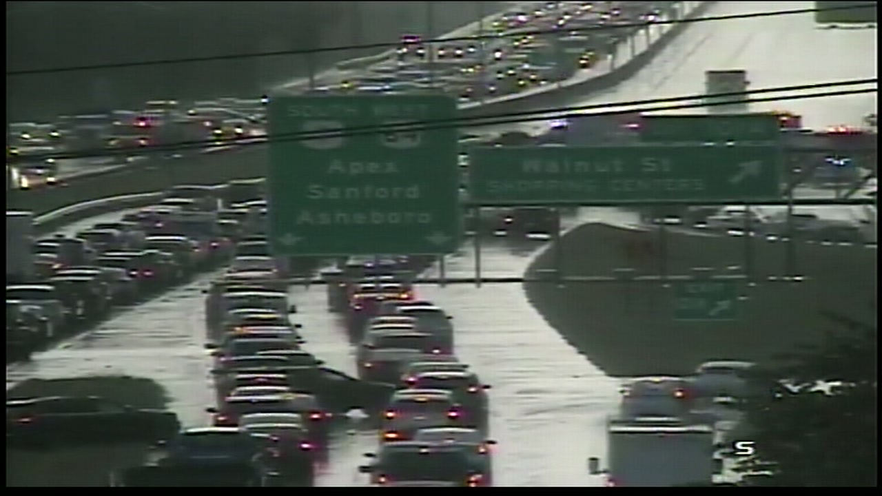 All lanes are closed Southbound and the two left lanes are closed Northbound near Exit 101.