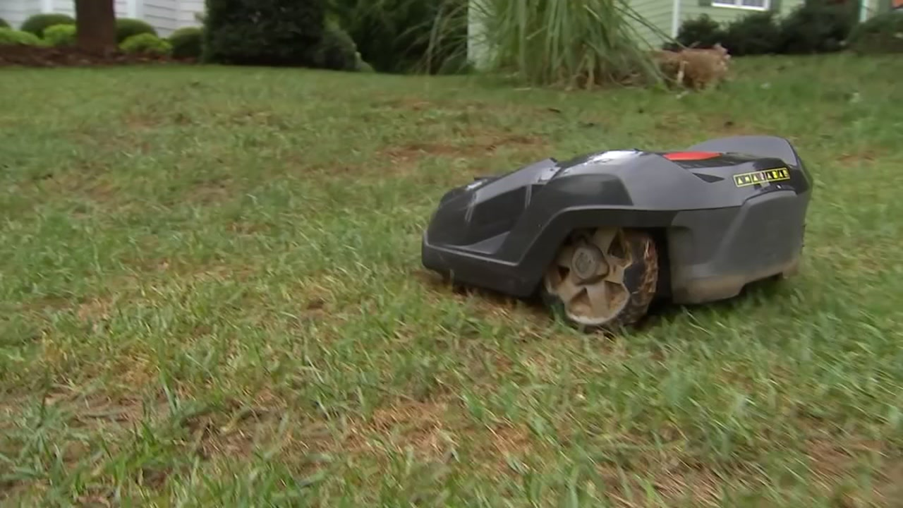 A Triangle company has a robotic lawn mower that does your yard work for you.