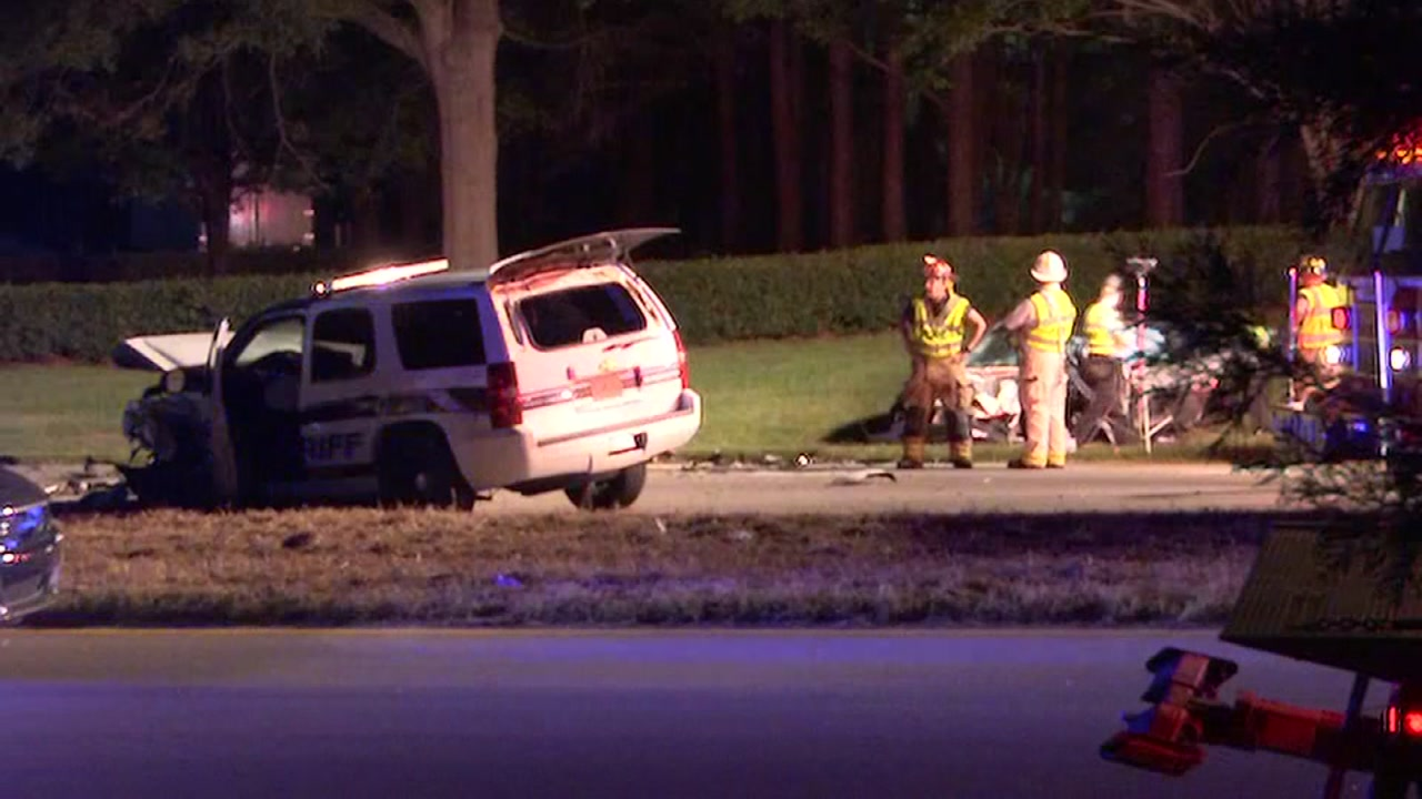 A Wake County deputy was involved in a serious crash with another vehicle.