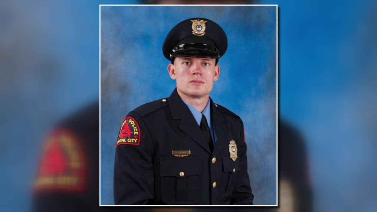 Officer C.D. Ainsworth pictured at his Dec. 2017 graduation from the Raleigh Police Academy.