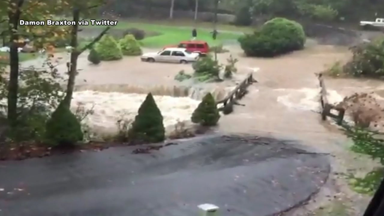 Twitter video shows flooding in Boone as Tropical Storm Michael makes its way into the state.