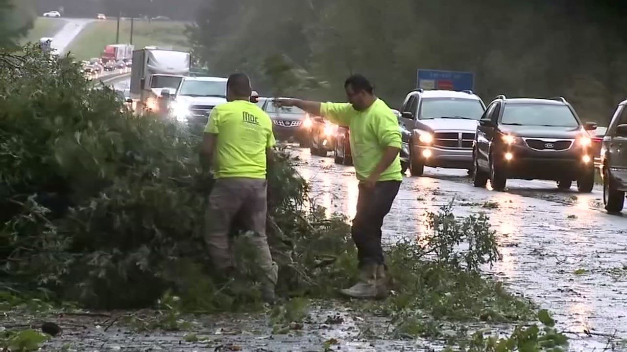Downed trees caused delays, power outages in Chapel Hill.