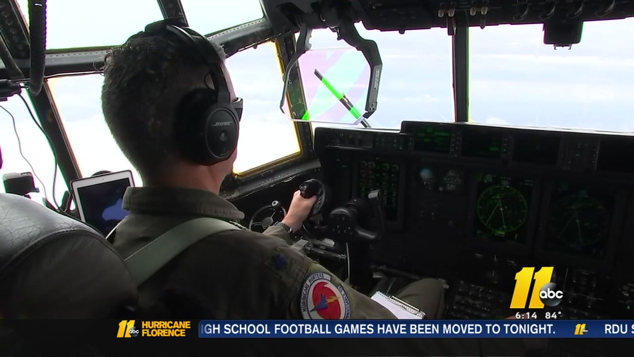The Hurricane Hunters are flying daily into the eye of Hurricane Florence.