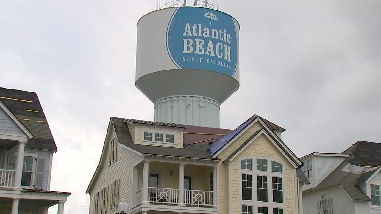 The recovery at Atlantic Beach slowly progresses one month after Florence hit.