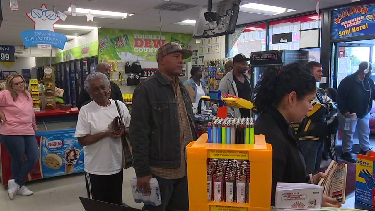 People lined up at a Knightdale store and across the state and nation for a shot at $1 billion.