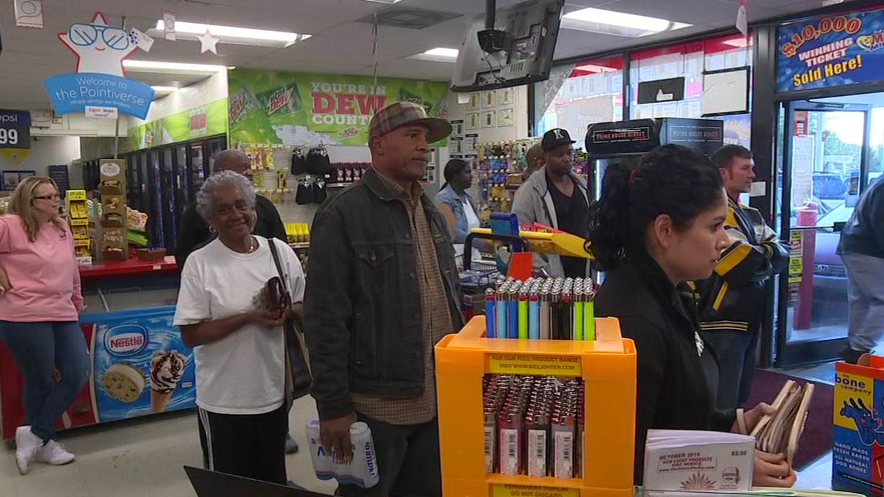 In Knightdale, people lined up for Mega Millions tickets Friday.