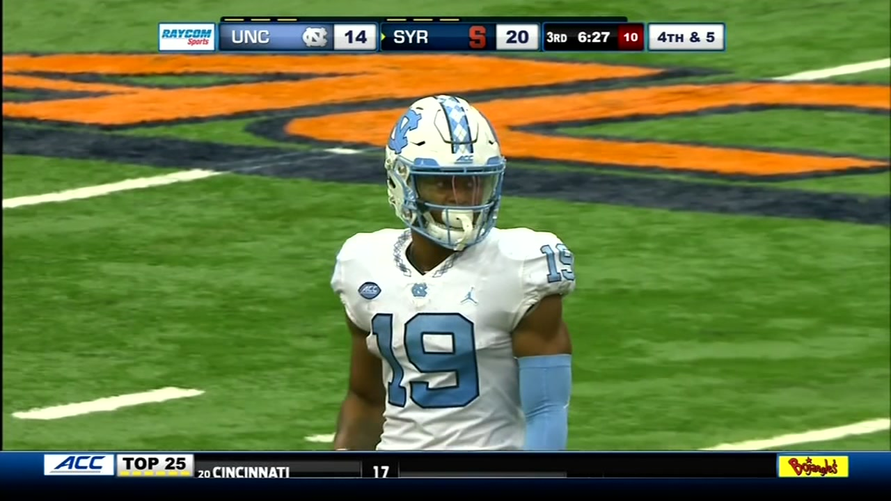Syracuse rallies to beat North Carolina 40-37 in double OT