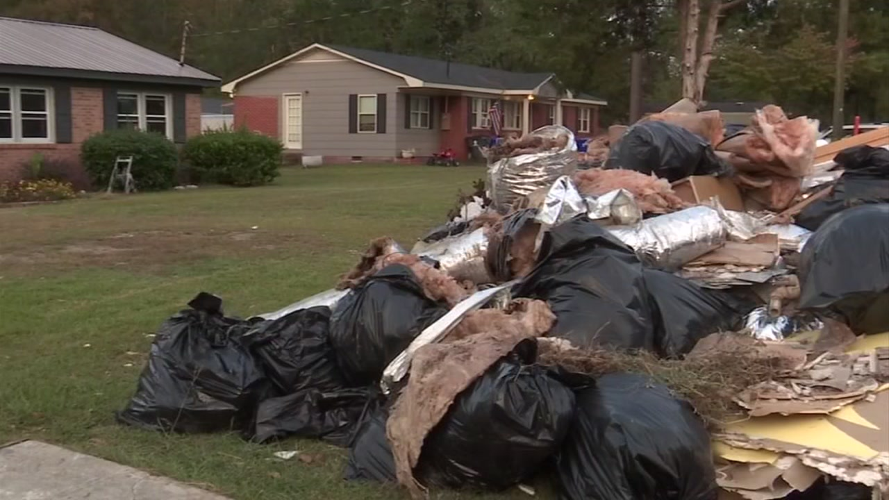 Trash is everywhere in the wake of Florence and Michael in Spring Lake.