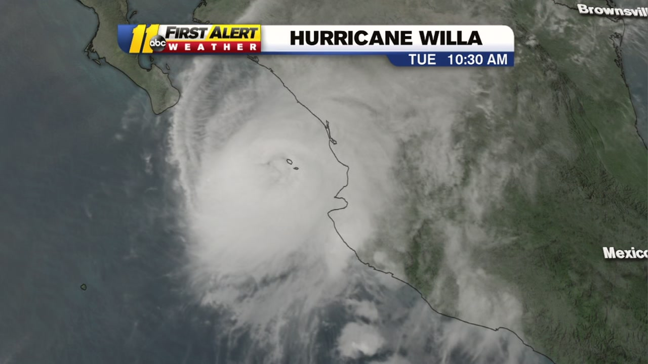 Hurricane Willa will have an impact on North Carolina later in the week.