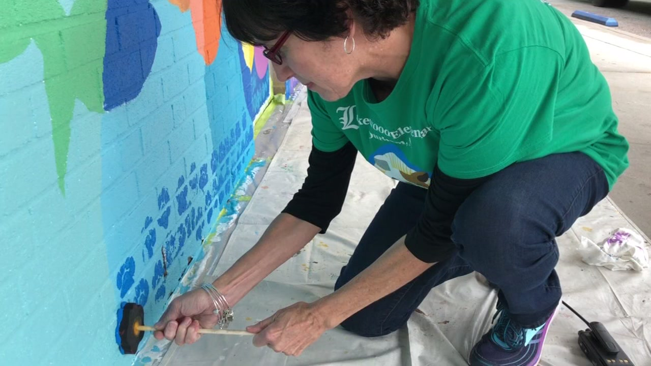 Students leave their mark through literacy and art at Lakewood Elementary.