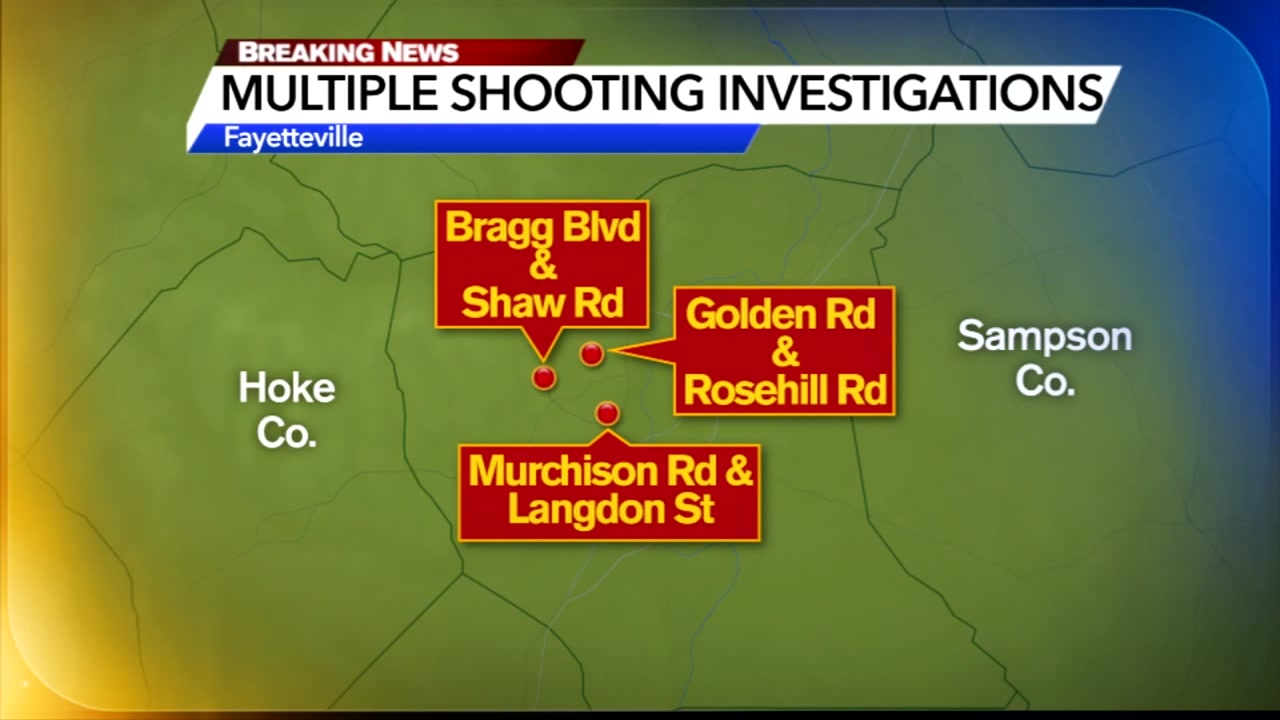 Multiple shooting investigations in Fayetteville overnight