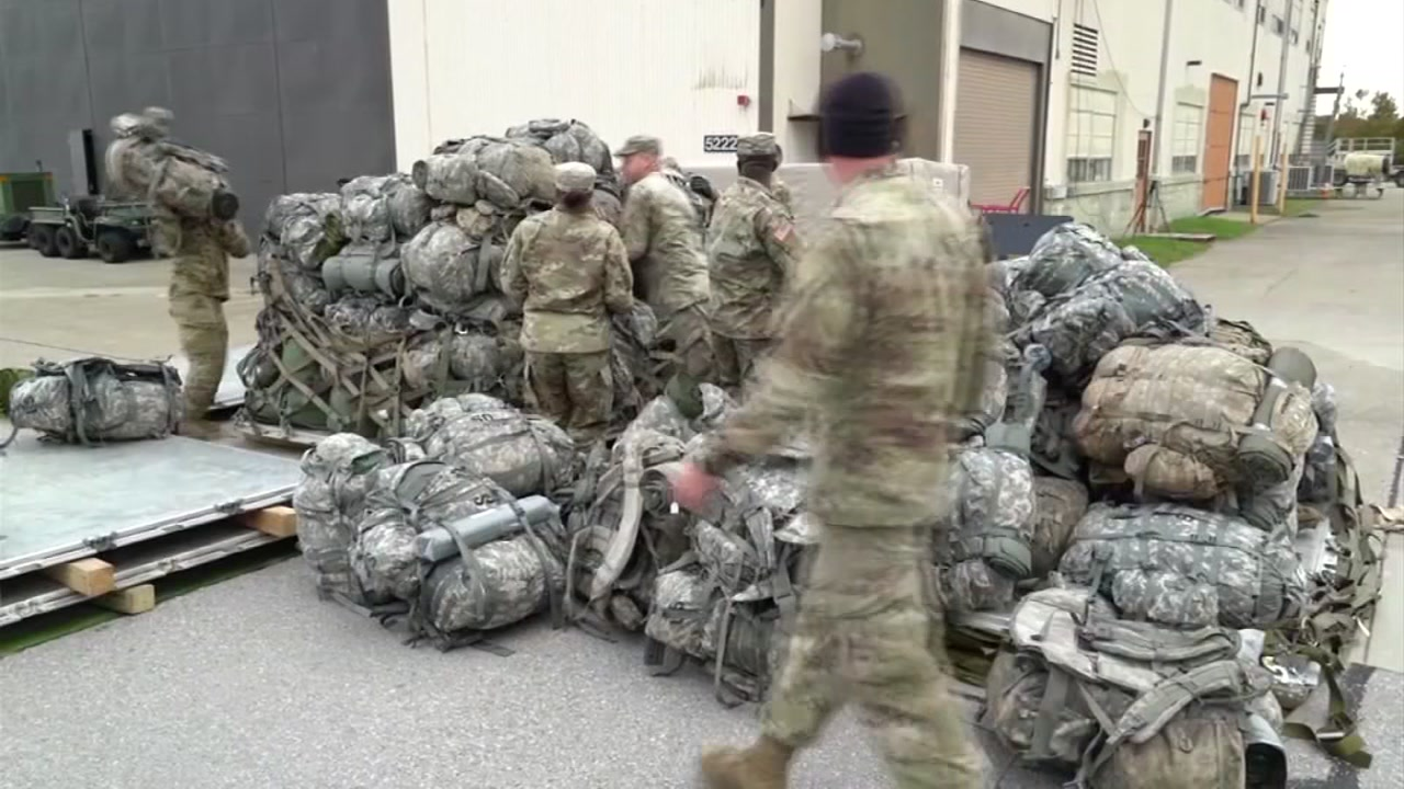 Soldiers with the 18th Airborne Corps are part of the influx in troops President Donald Trump sent to the U.S.-Mexico border, according to Fort Bragg officials.
