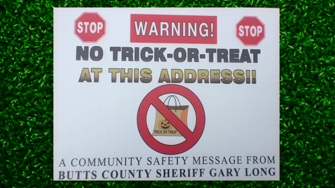 Georgia Deputies are making sure children know which houses to avoid on Halloween