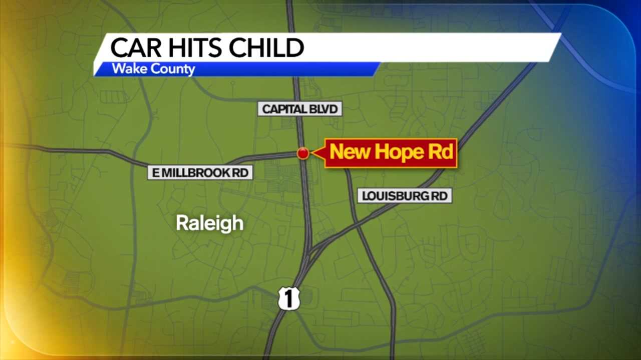 Raleigh police are investigating after a child was hit by a car as she tried to cross the street.