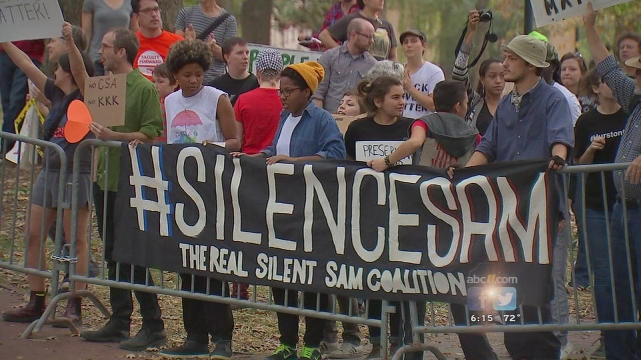 Silent Sam protest at UNC