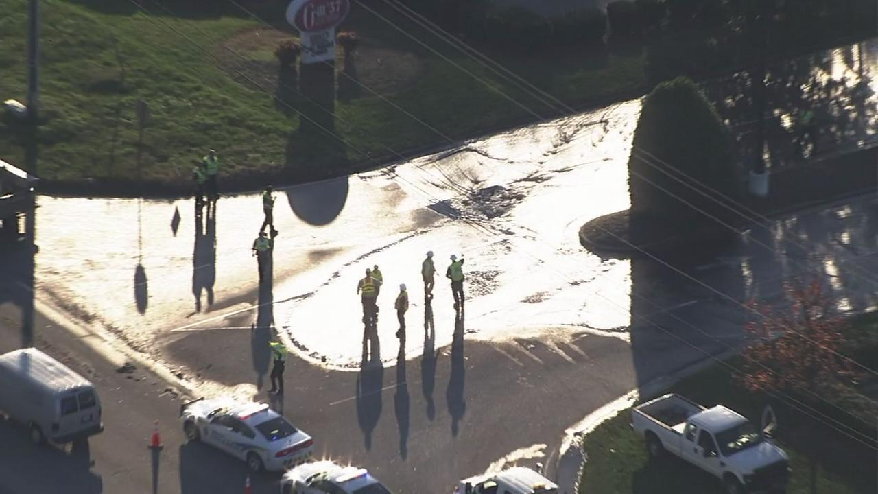 Garner water main break