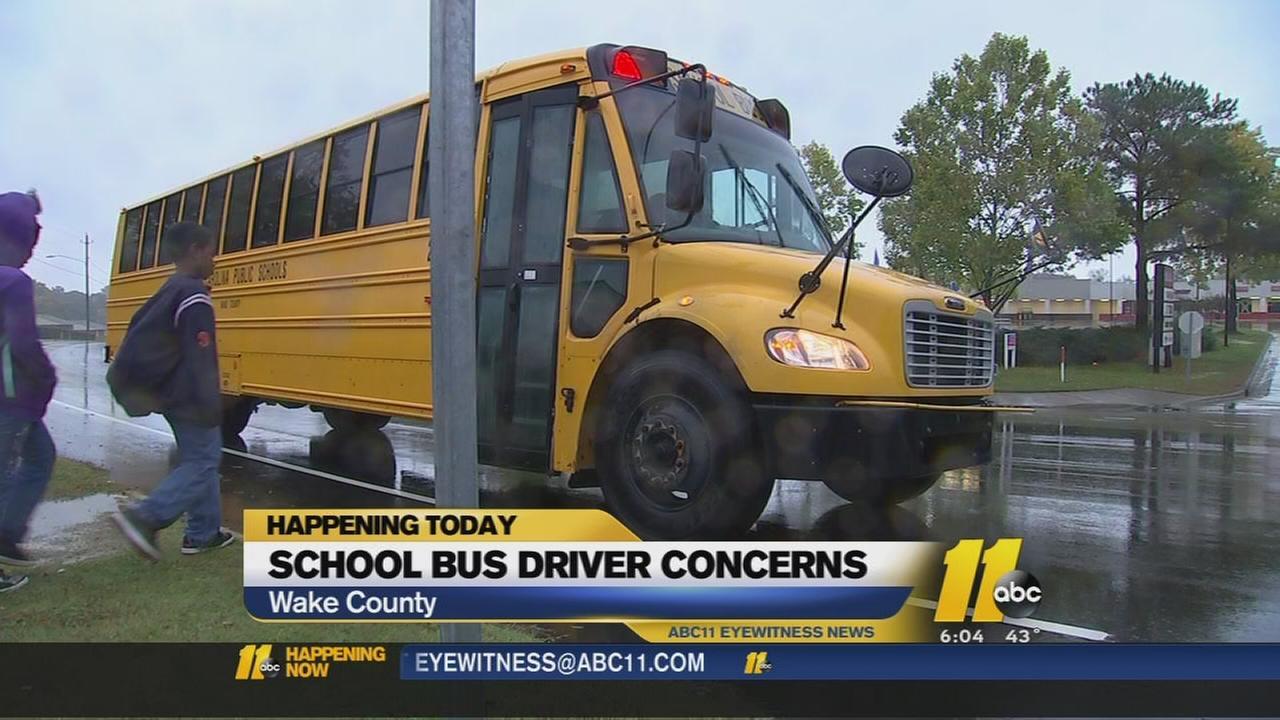 School bus driver concerns
