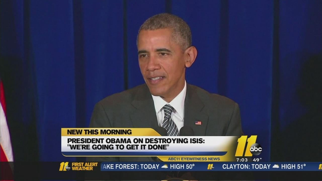 Obama speaks on destroying ISIS