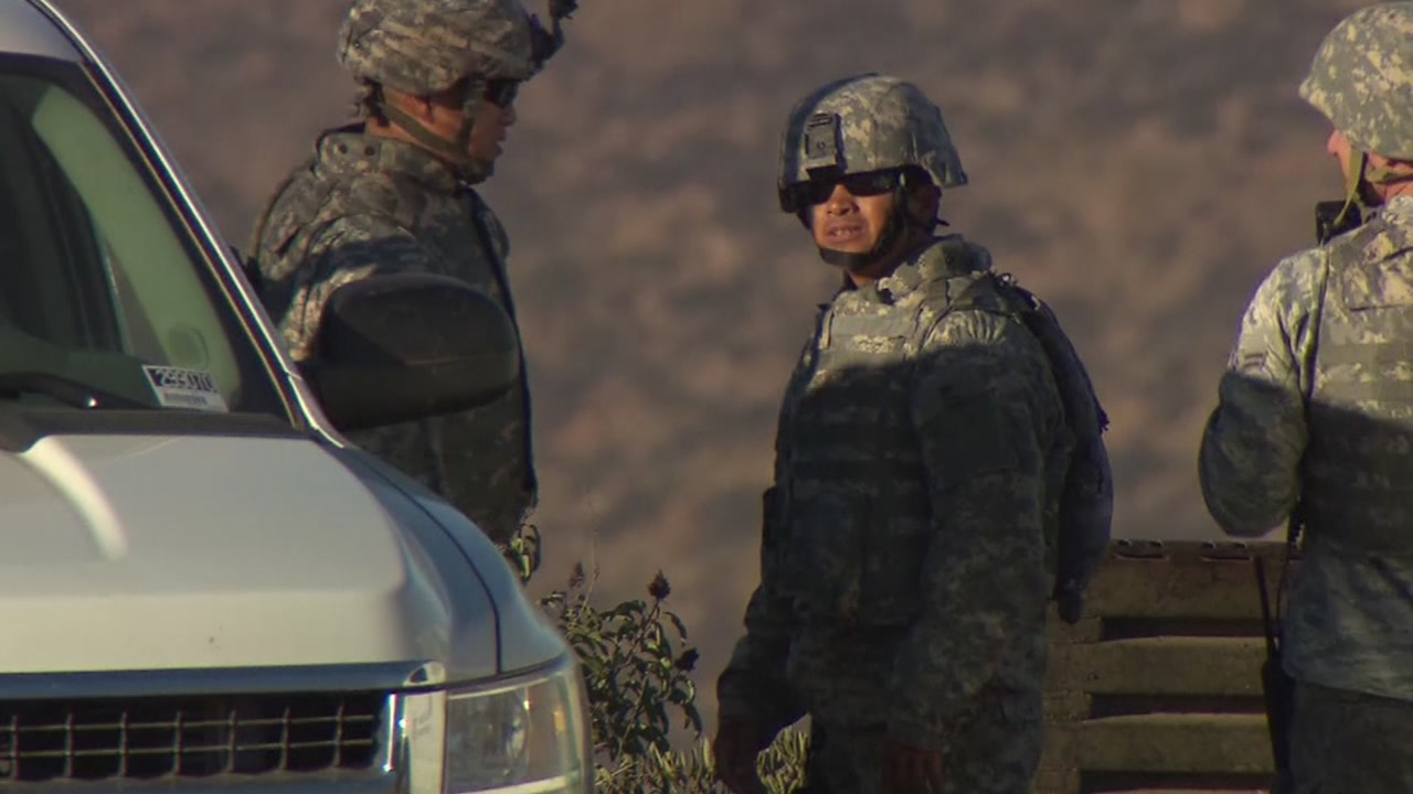 President Donald Trump said the number of military troops deployed to the U.S.-Mexican border could increase.