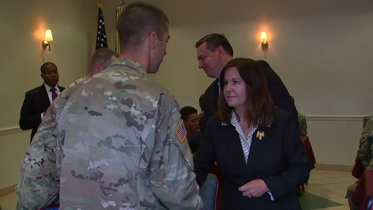 Second lady Karen Pence visits Fort Bragg