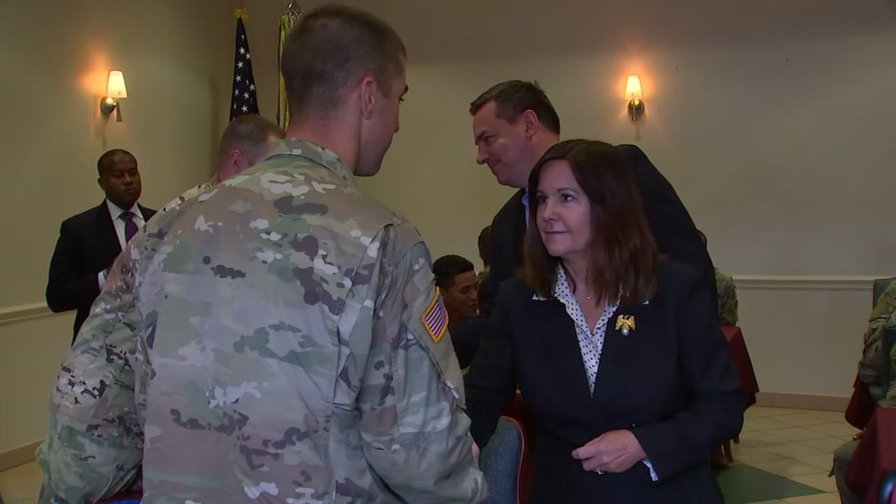 Second lady Karen Pence visits Fort Bragg