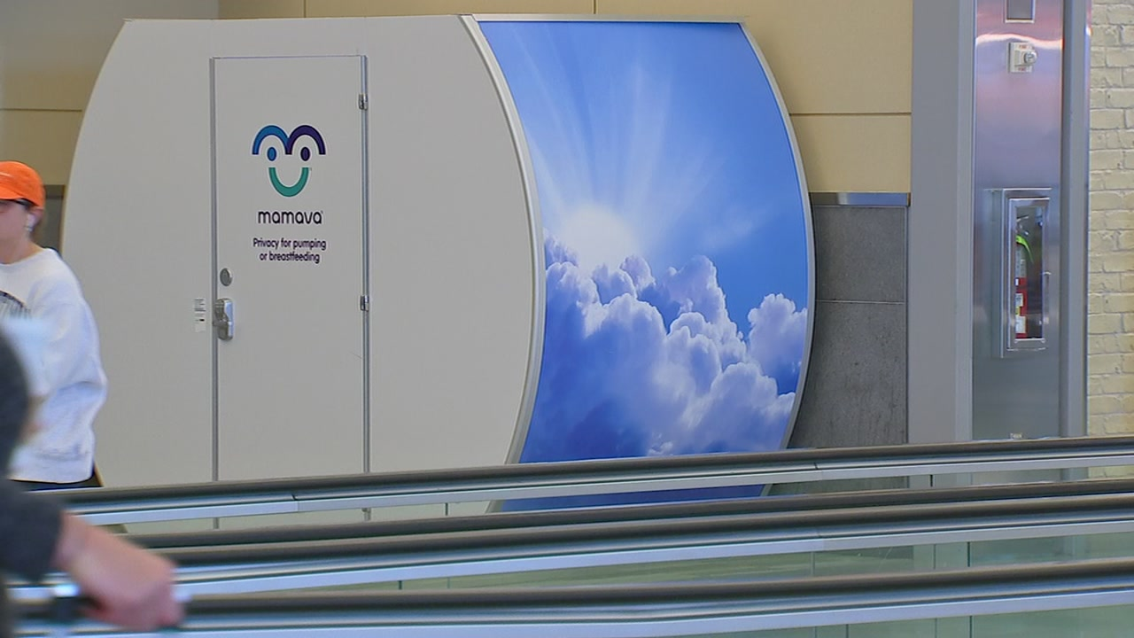RDU installed two Mamava pods, one for each terminal.