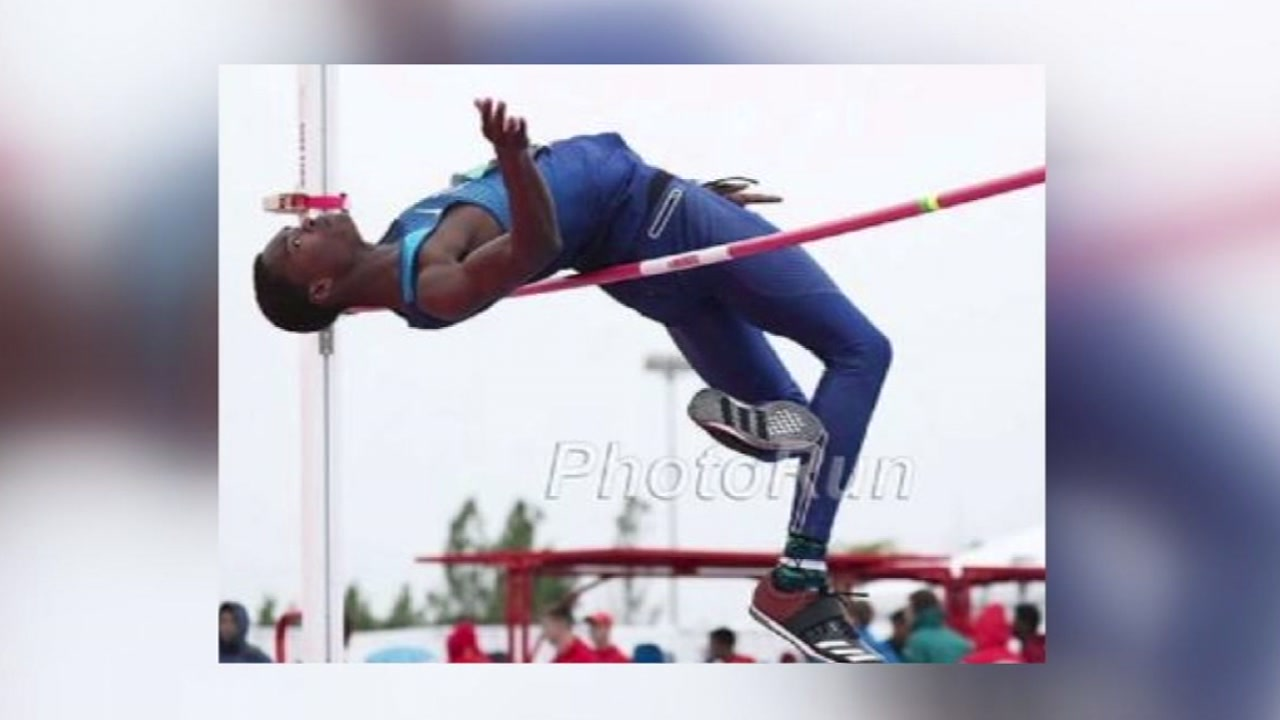 Apex high jumper competes internationally