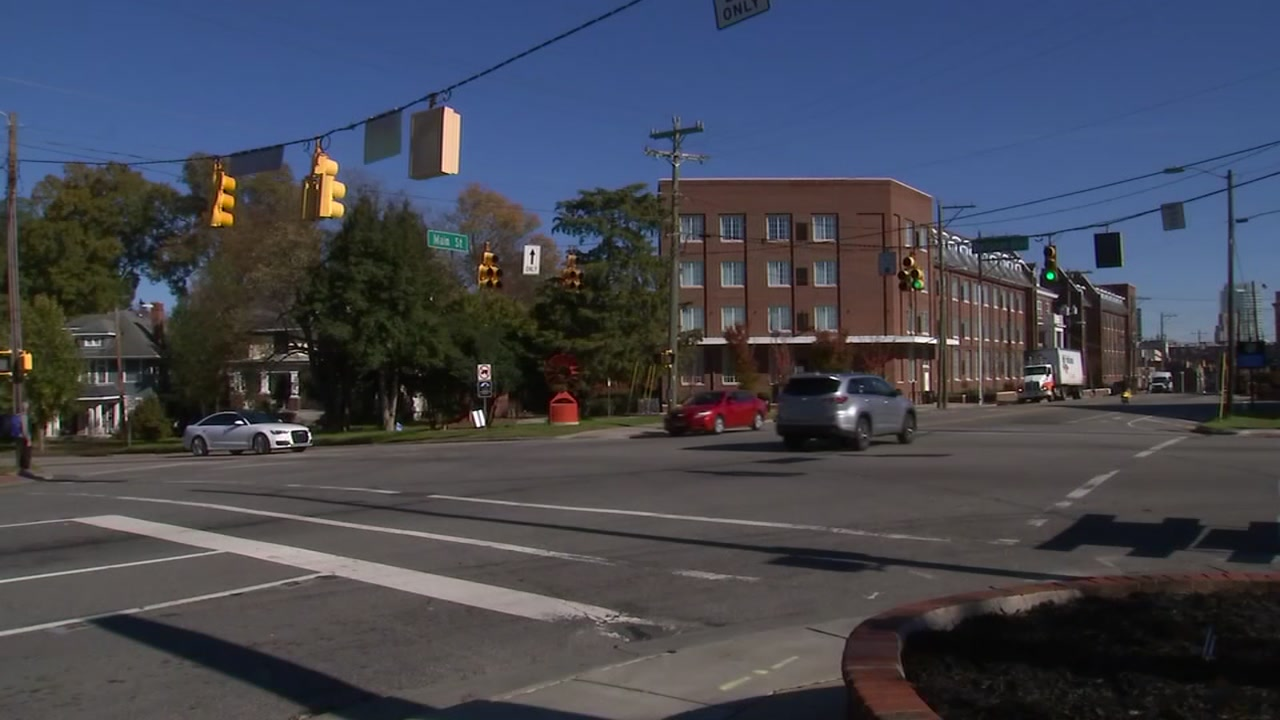 A woman was struck at this intersection between West Main Street and North Buchanan Boulevard.