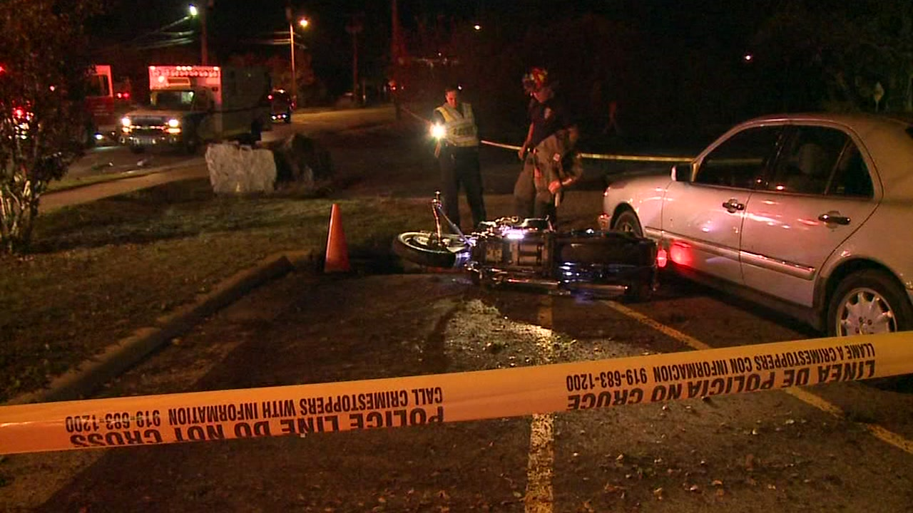 A motorcyclist is dead and another is injured after a multi-vehicle crash in Durham.