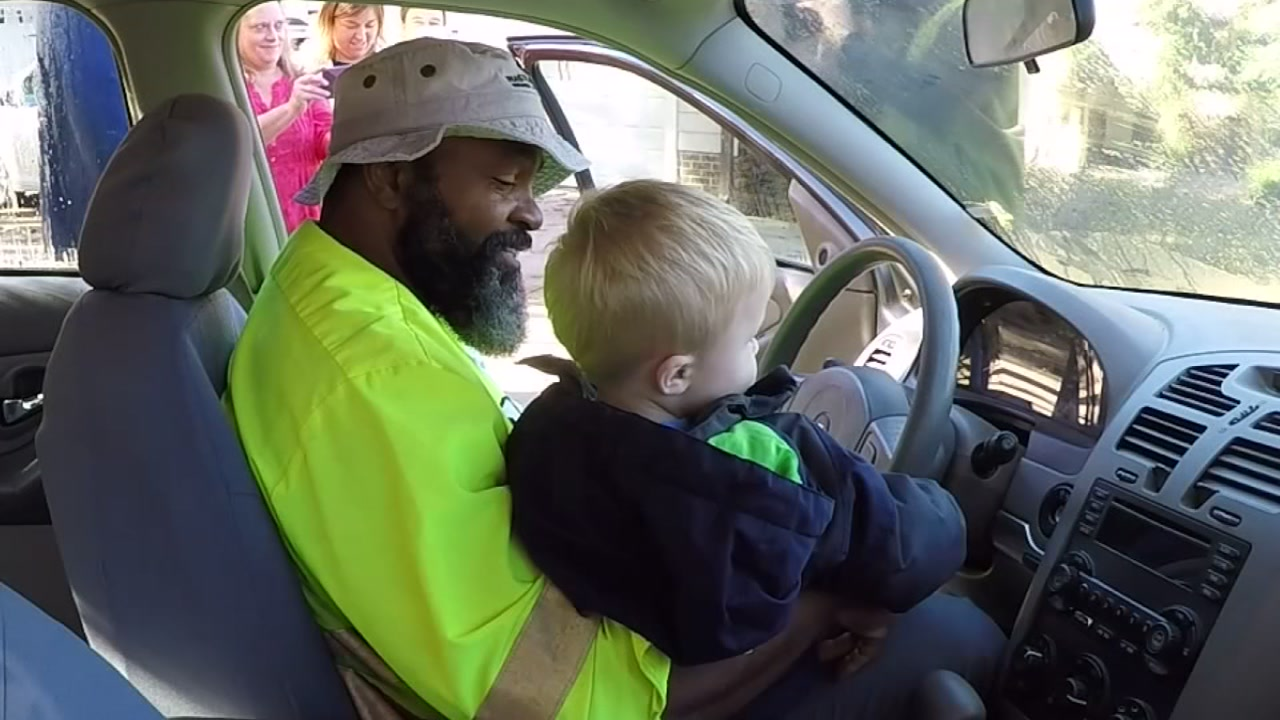 A neighborhood in Fuquay-Varina surprised its favorite recycle driver, Aaron Christian, with a large check to help him repair his car.
