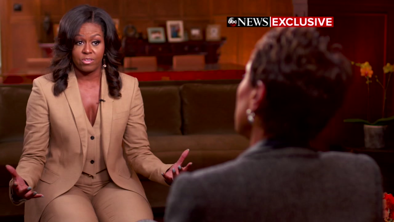 Michelle Obama says she felt lost and alone after suffering a miscarriage 20 years ago.
