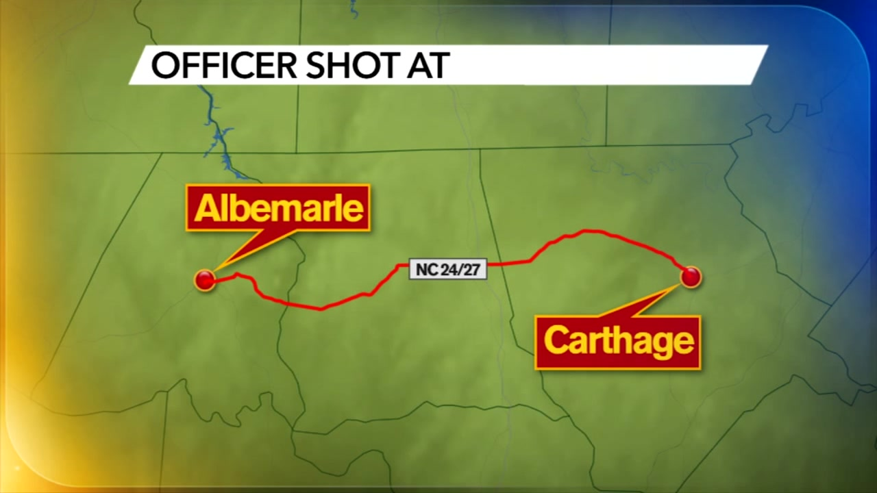Moore County deputies searching for two men who shot at officers