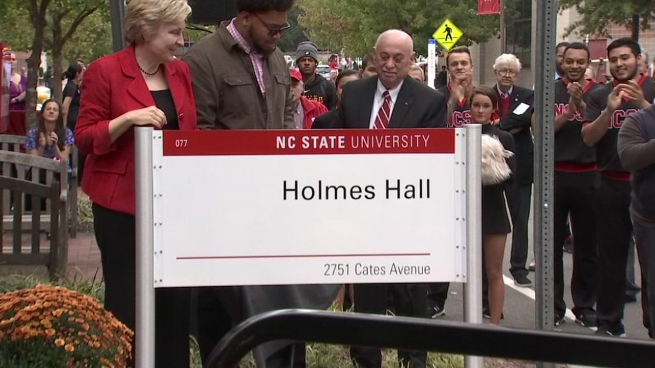 On Thursday, hundreds gathered on the N.C. State campus  to honor Irwin Holmes Jr, renaming the University College Commons to Holmes Hall.