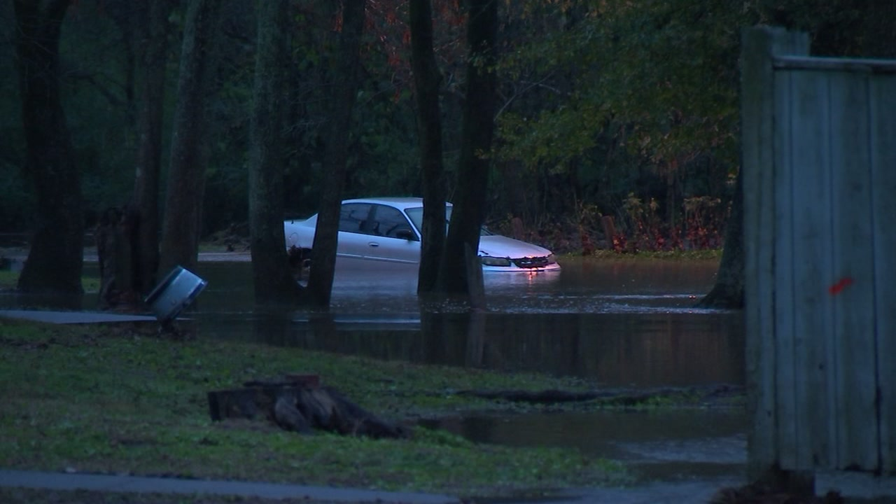 Heavy rain swept across much of Central North Carolina Monday night, bringing down trees and causing detours.