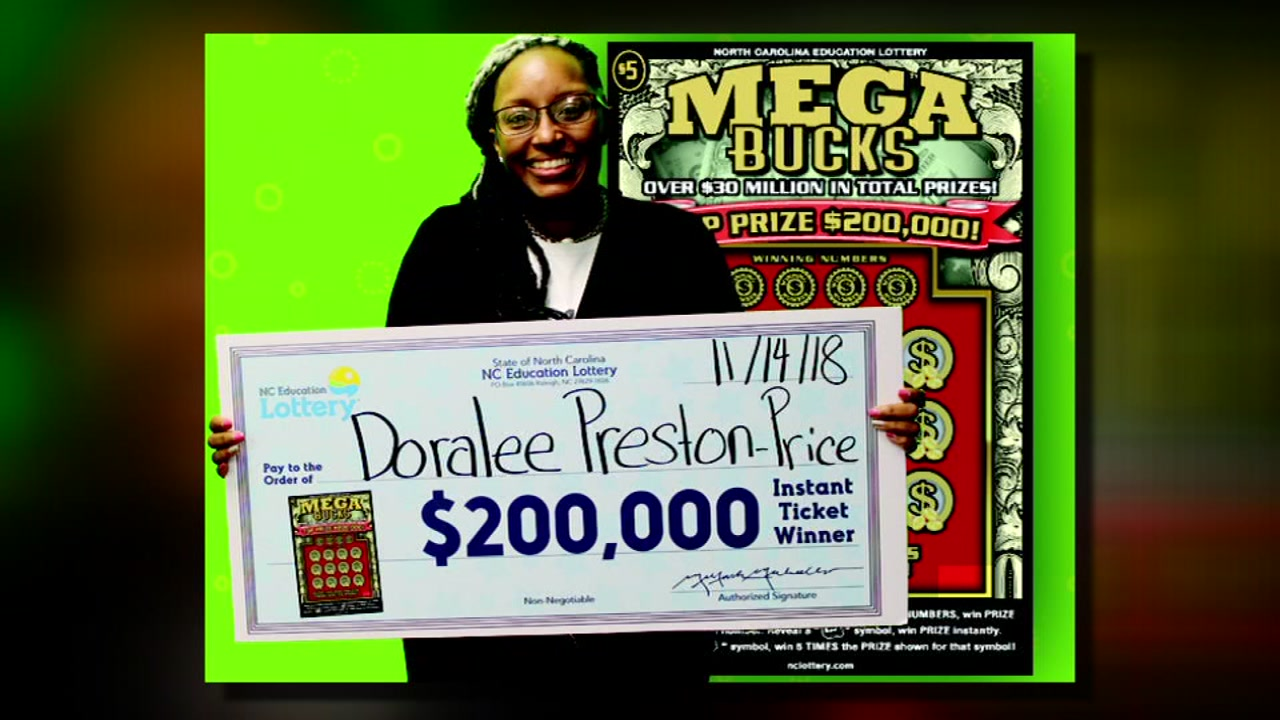 Doralee Preston Price forgot the soap and cleaned up on a lottery jackpot.