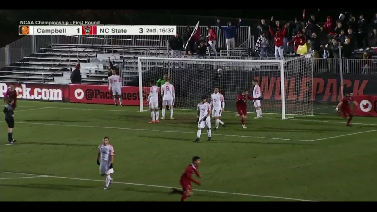 Corner kick golazo powers NC State into 2nd round of NCAA soccer.