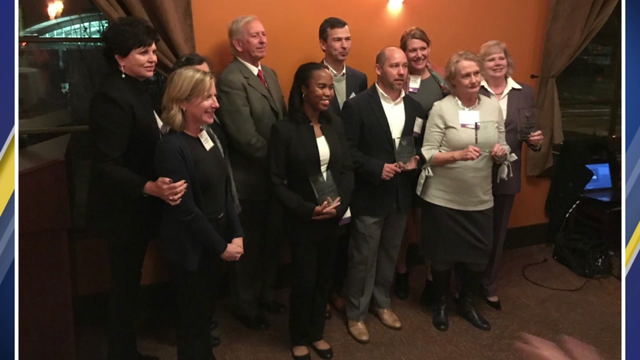 Triangle philanthropists were honored Thursday evening.