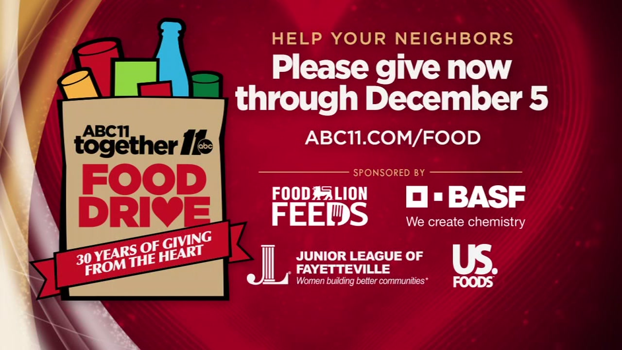 You have a chance to help fight hunger in our area with the ABC11 Together Food Drive next month.