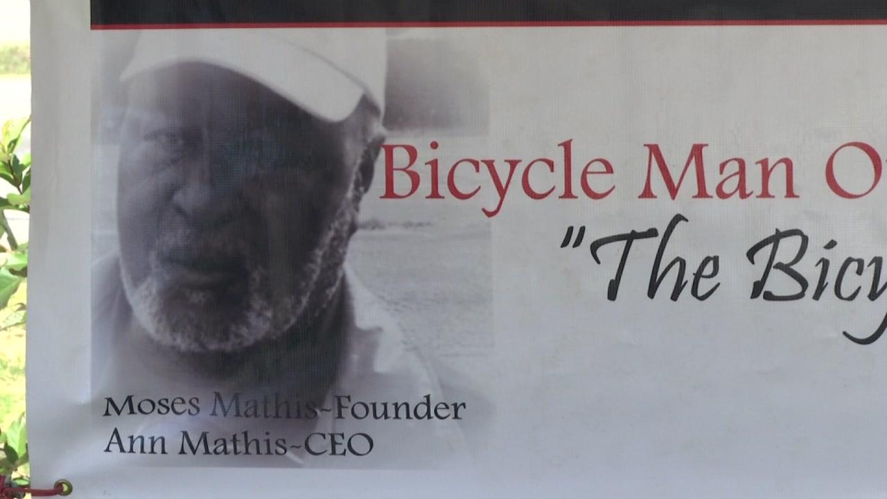 Bicycle man honored thumb