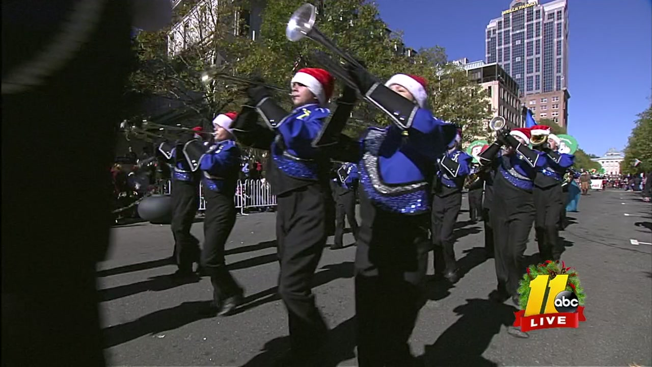 Midway High School Band plays in the Raleigh Christmas Parade