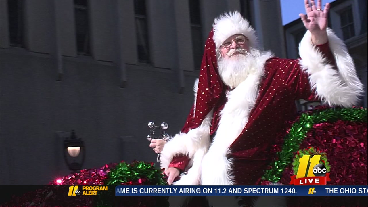 Santa caps off the 2018 Raleigh Christmas Parade.