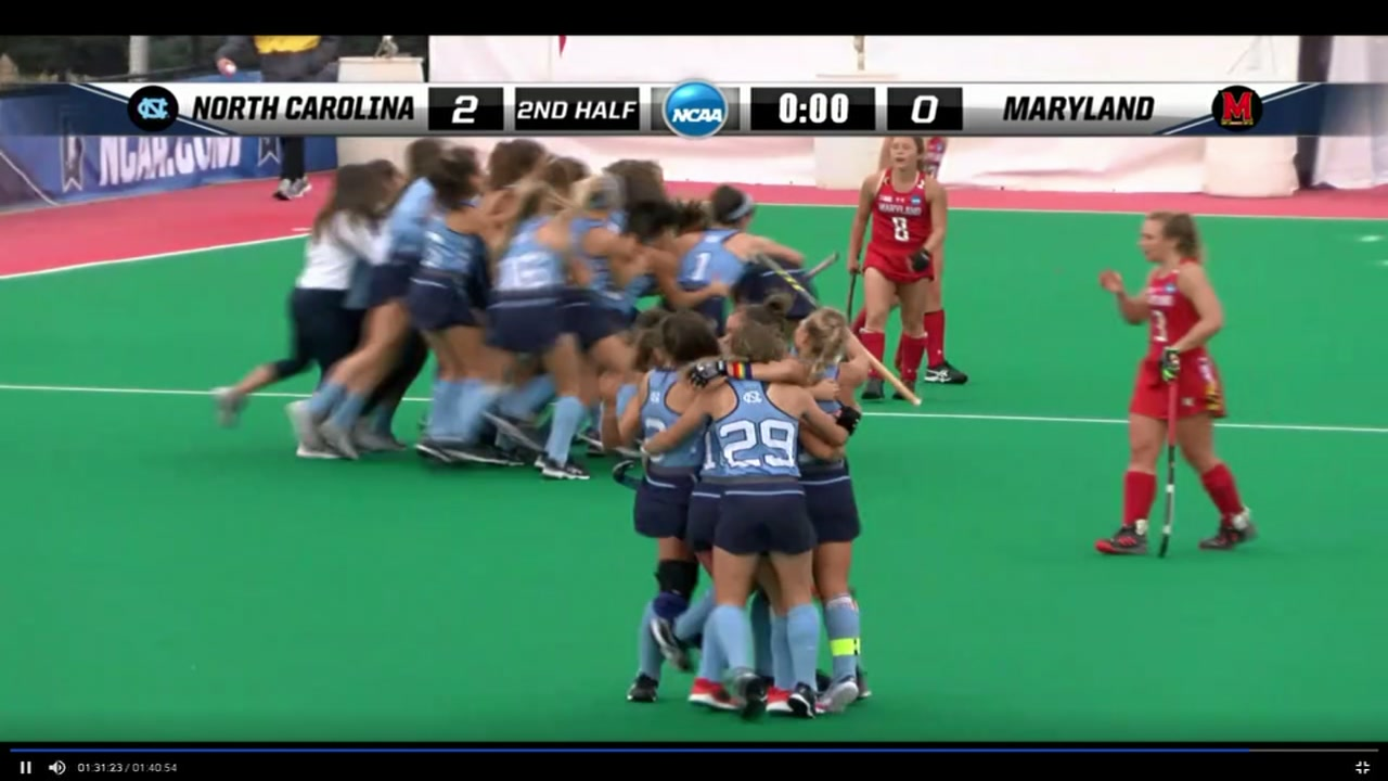 North Carolina beats Maryland 2-0 in NCAA championship