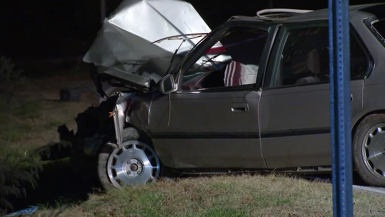 An overnight crash on Old Knight Road near Terry Lane has sent at least one person to the hospital.