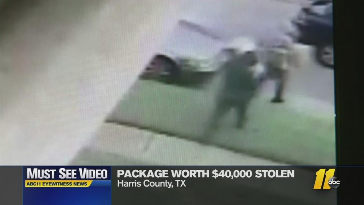 Must-see video: Package worth $40K stolen