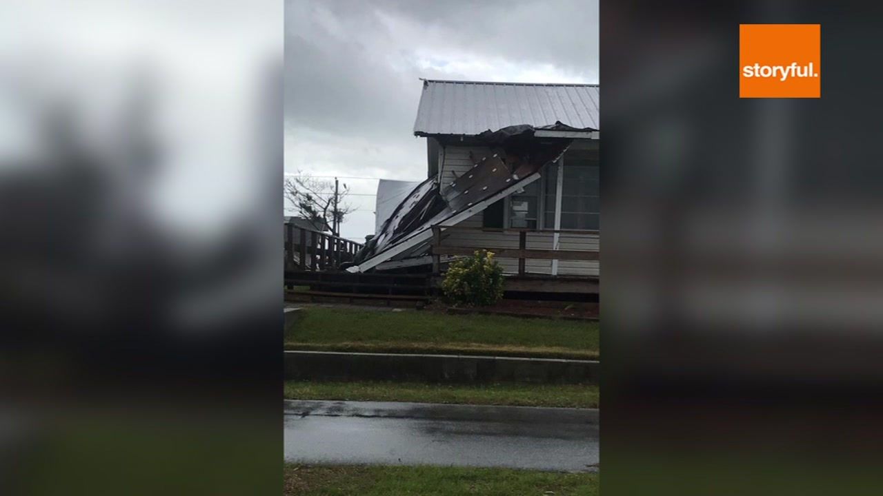 Two tornadoes touched down in eastern North Carolina on Saturday.